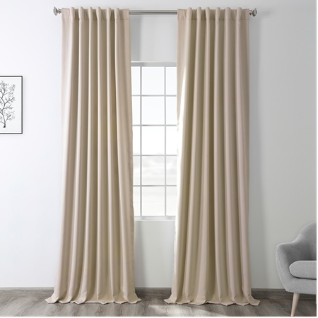 Eggnog Pole Pocket Blackout Curtain