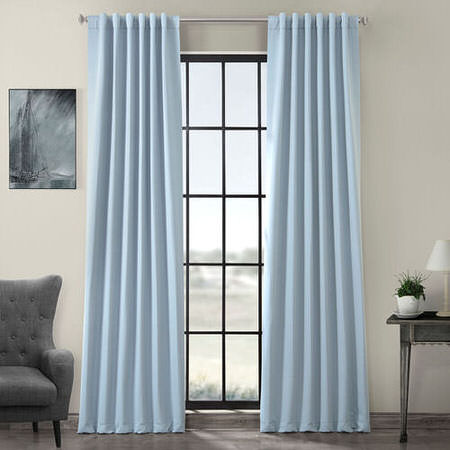 Frosted Blue Blackout Curtain
