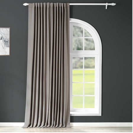 Neutral Grey Doublewide Blackout Curtain