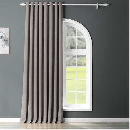Neutral Grey Grommet Doublewide Blackout Curtain