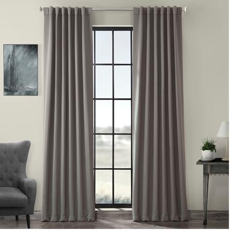 Neutral Grey Pole Pocket Blackout Curtain