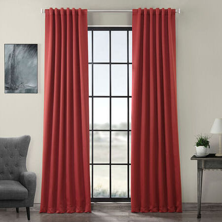 Brick Red Blackout Curtain