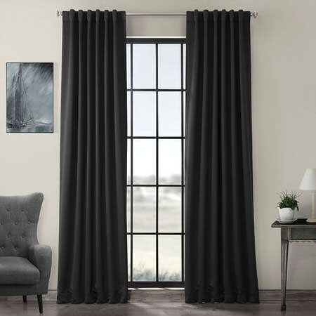 Jet-Black Pole Pocket Blackout Curtain