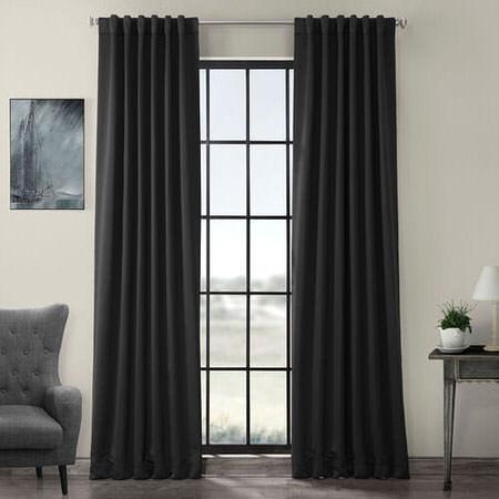 Jet-Black Pole Pocket Blackout Curtain