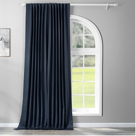 Navy Blue Doublewide Blackout Curtain
