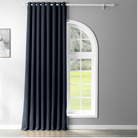 Eclipse Blue Grommet Doublewide Blackout Curtain