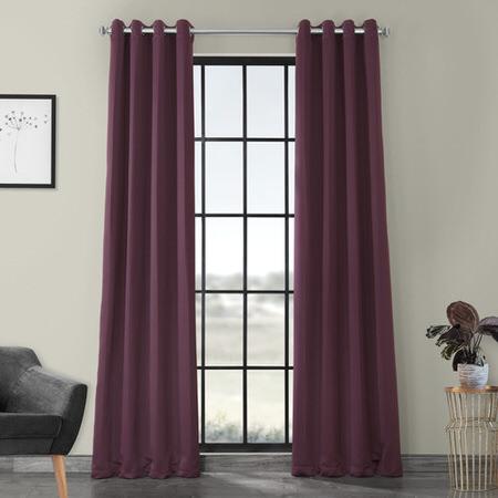 Aubergine Grommet Blackout Curtain