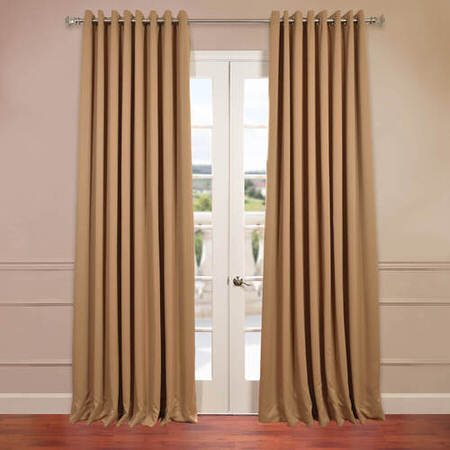 Alpaca Tan Grommet Doublewide Blackout Curtain