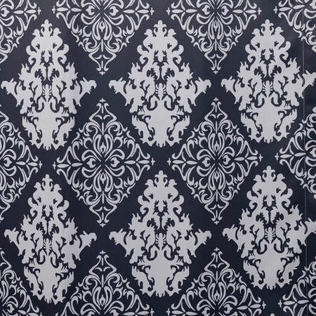 Damask Charcoal Blackout Swatch