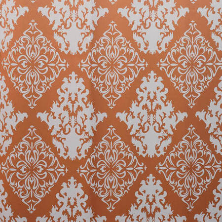 Damask Rust Blackout Swatch