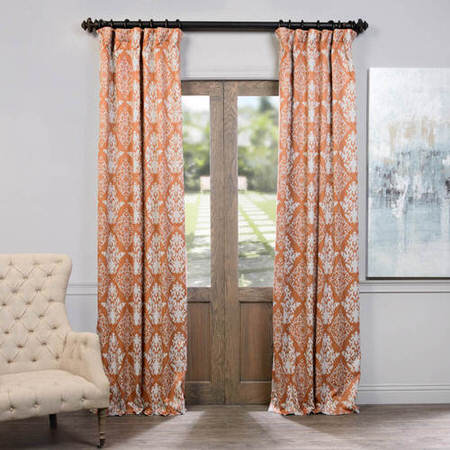 Damask Rust Blackout Curtain