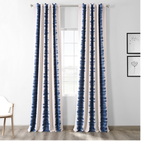 Flambe Blue Blackout Curtain