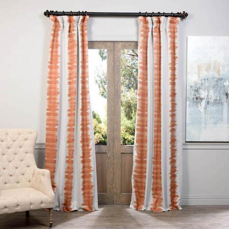 Flambe Orange Blackout Curtain