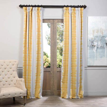 Flambe Yellow Blackout Curtain