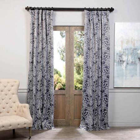 Flora Grey Blackout Curtain