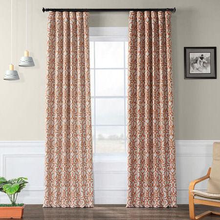 Nouveau Tan And Rust Blackout Curtain