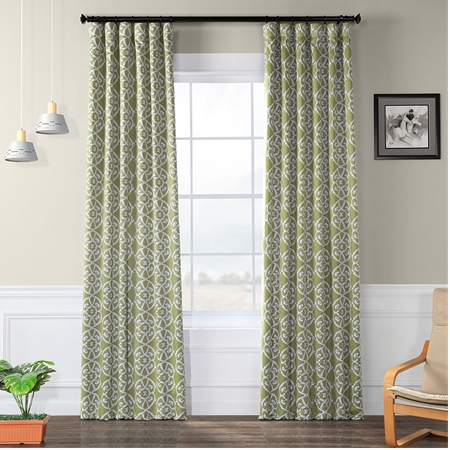 Secrect Garden Leaf Green Blackout Curtain