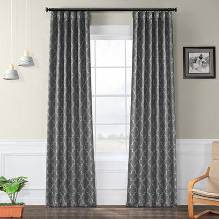 Seville Grey & Silver Blackout Curtain