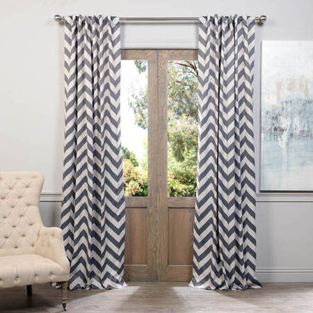 Fez Grey & Tan Blackout Curtain