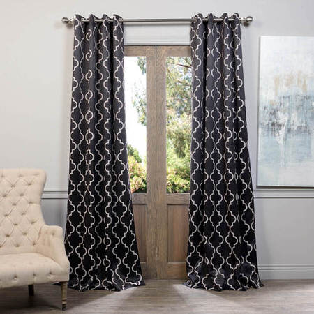 Seville Black Grommet Blackout Curtain