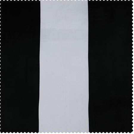 Awning Black & White Stripe Blackout Swatch
