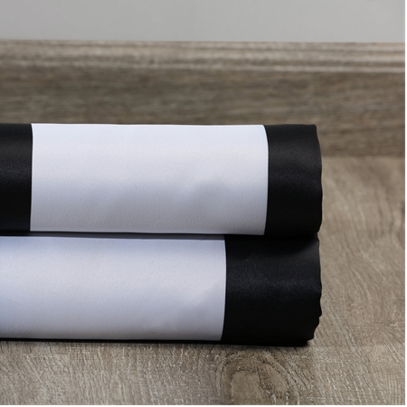 Awning Black & White Stripe Blackout Swatch