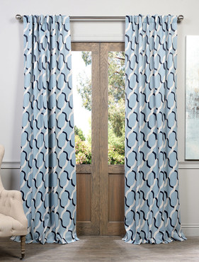 Voyager Blue Blackout Curtain
