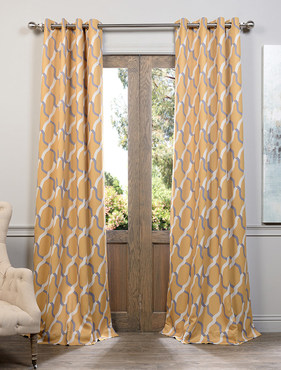 Voyager Maize Grommet Blackout Curtain