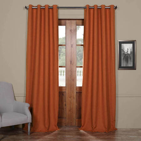 Persimmon Bellino Grommet Blackout Curtain