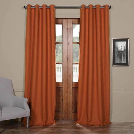 Persimmon Bellino Grommet Blackout Curtain