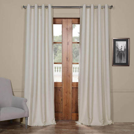 Cottage White Bellino Grommet Blackout Curtain