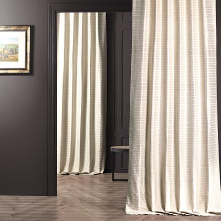 Pebble Cream Hand Weaved Cotton Curtain