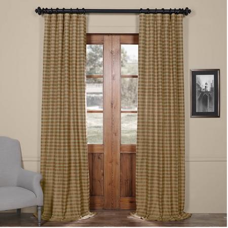 Mocha & Teal Casual Cotton Curtain