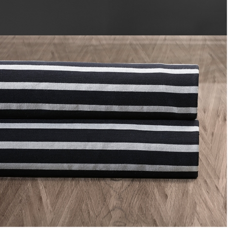 Black & Silver Casual Cotton Swatch