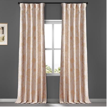 Lorraine Embroidered Cotton Crewel Curtain
