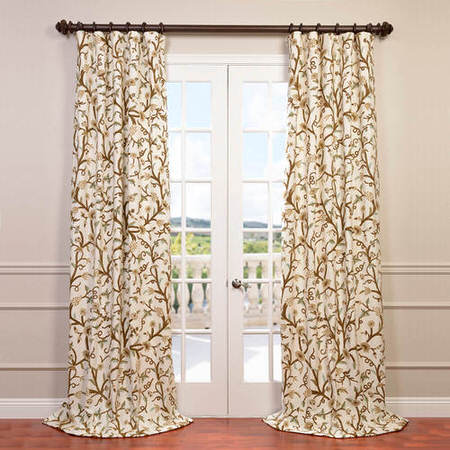 Frances Embroidered Cotton Crewel Curtain