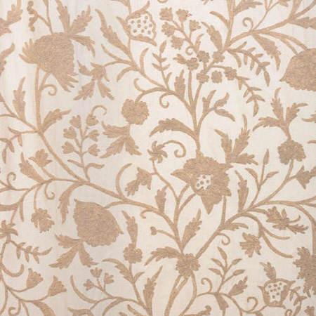 Celine Cream Embroidered Cotton Crewel Swatch