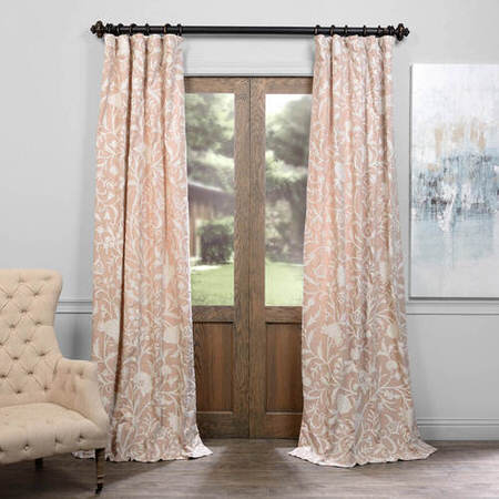 Celine Linen Embroidered Cotton Crewel Curtain