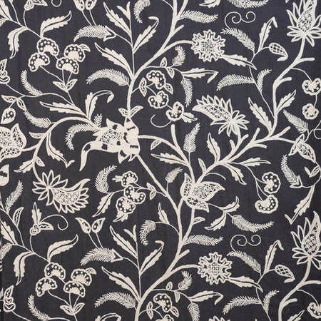 Francisco Embroidered Cotton Crewel Swatch