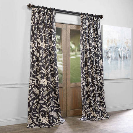 Francisco Embroidered Cotton Crewel Curtain