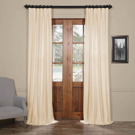 Seashell White Cotton Linen Blend Curtain