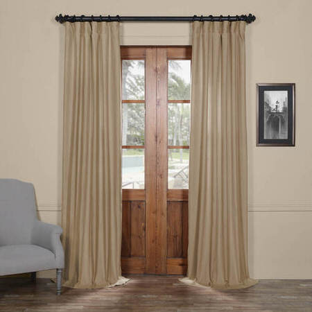 Coastal Tan Cotton Linen Blend Curtain