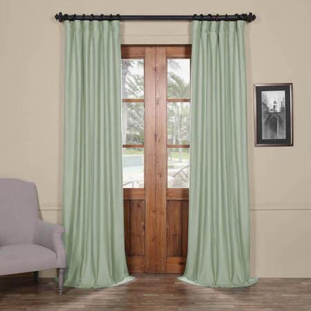 Ocean Blue Cotton Linen Blend Curtain