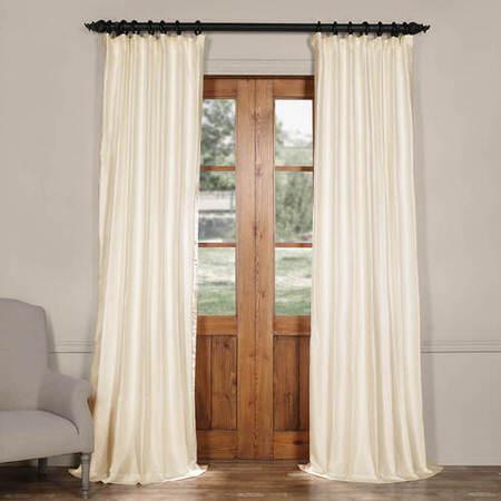Blanc White Cotton Silk Curtain