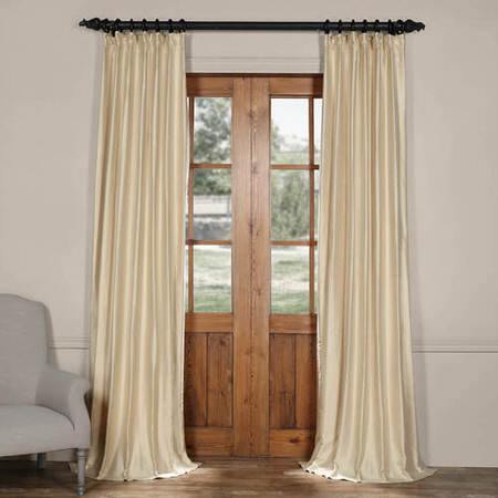 Buff Cotton Silk Curtain