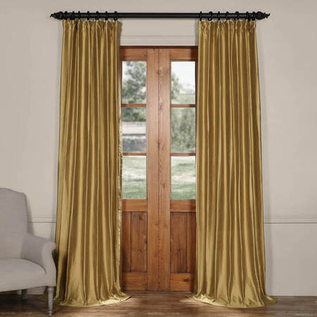Giza Gold Cotton Silk Curtain