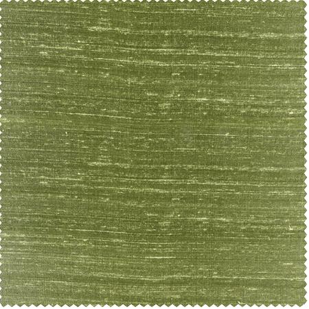 Paradise Green Textured Dupioni Silk Swatch