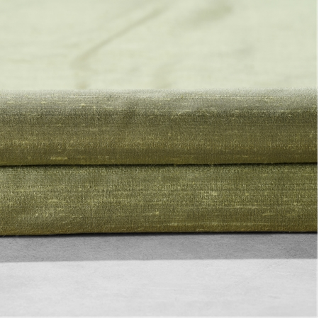 Paradise Green Textured Dupioni Silk Swatch
