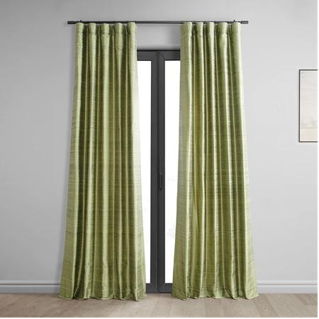 Paradise Green Textured Dupioni Silk Curtain