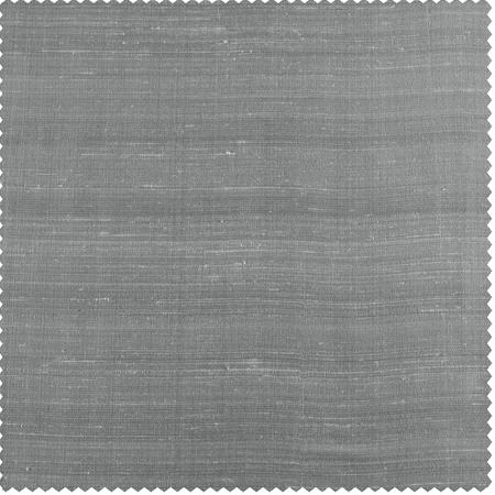 Mineral Grey Textured Dupioni Silk Swatch